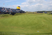 150719 | The 148th Open - Monday Practice<br /> <br /> General view of the 18th green during practice for the 148th Open Championship at Royal Portrush Golf Club, County Antrim, Northern Ireland. Photo by John Dickson - DICKSONDIGITAL