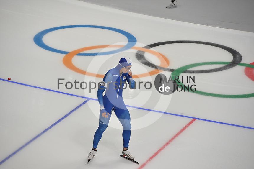 OLYMPIC GAMES: PYEONGCHANG: 19-02-2018, Gangneung Oval, Long Track, 500m Men, Jun-Ho Kim (KOR), ©photo Martin de Jong