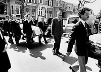 1984 FILE PHOTO - ARCHIVES -<br /> <br /> Quebec Legislative Assembly Funeral<br /> <br /> PHOTO :  John Mahler - Toronto Star Archives - AQP