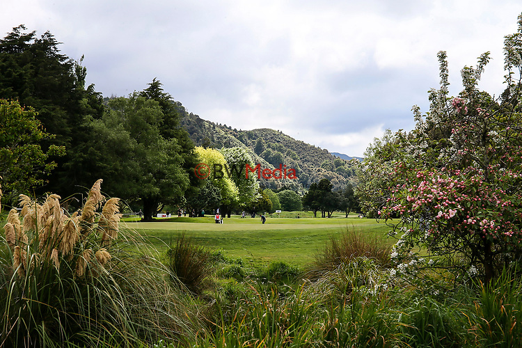 General View during the Asia Pacific Amateur Golf Championship Round Four, Royal Wellington Golf Course, Wellington, New Zealand, 29 October2017.  Photo: Simon Watts/www.bwmedia.co.nz