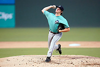 Starting pitcher Kyle Gruller (26) of the Asheville Tourists in a game against the Greenville Drive on Tuesday, August 31, 2021, at Fluor Field at the West End in Greenville, South Carolina. (Tom Priddy/Four Seam Images)