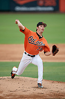 Baltimore Orioles pitcher Brenan Hanifee (78) delivers a pitch during an Instructional League game against the Tampa Bay Rays on October 5, 2017 at Ed Smith Stadium in Sarasota, Florida.  (Mike Janes/Four Seam Images)