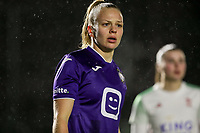 Sarah Wijnants (11) of Anderlecht pictured during a female soccer game between Oud Heverlee Leuven and RSC Anderlecht on the 12 th matchday of the 2020 - 2021 season of Belgian Womens Super League , sunday 31 st of January 2021  in Heverlee , Belgium . PHOTO SPORTPIX.BE | SPP | SEVIL OKTEM