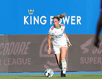 Charlotte Cranshoff (18) of OHL in action during a female soccer game between Oud Heverlee Leuven and Standard Femina de Liege on the third matchday of the 2021 - 2022 season of Belgian Womens Super League , Sunday 5 th of September 2021  in Leuven , Belgium . PHOTO SPORTPIX.BE | SEVIL OKTEM