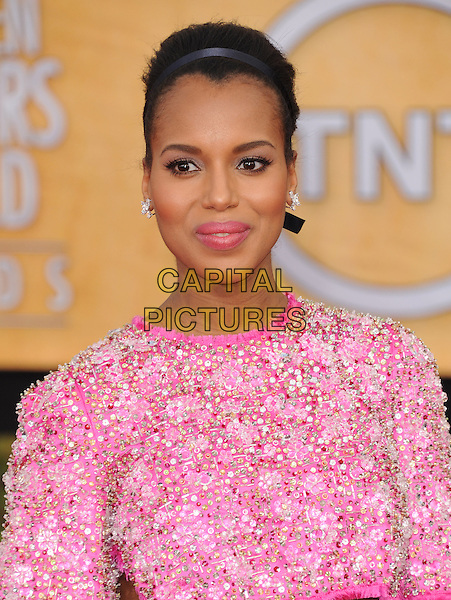 Kerry Washington at the 20th Annual Screen Actors Guild Awards held at the  The Shrine Auditorium in Los Angeles, California on January 18th 2014.                                                                              <br /> CAP/DVS<br /> ©Debbie VanStory/Capital Pictures