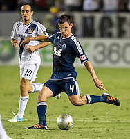 CARSON, CA - June 23, 2012: Vancouver Whitecaps defender Alain Rochat (4) during the LA Galaxy vs Vancouver Whitecaps FC match at the Home Depot Center in Carson, California. Final score LA Galaxy 3, Vancouver Whitecaps FC 0.