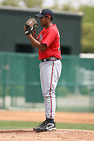 March 23rd 2008:  Yeliar Castro of the Atlanta Braves minor league system during Spring Training at Disney's Wide World of Sports in Orlando, FL.  Photo by:  Mike Janes/Four Seam Images