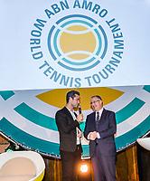 Rotterdam, Netherlands, 09 Februari, 2018, City Hall, Official Draw,   Anouncer Jan Kooijman and Major Abutaleb<br /> Photo: Tennisimages/Henk Koster
