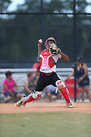 Oscar Santos (58) of Canovanas, Puerto Rico during the Under Armour Baseball Factory National Showcase, Florida, presented by Baseball Factory on June 13, 2018 the Joe DiMaggio Sports Complex in Clearwater, Florida.  (Nathan Ray/Four Seam Images)