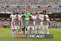 Chicago, IL - Wednesday June 22, 2016: Colombia Starting Eleven during a Copa America Centenario semifinal match between Colombia (COL) and Chile (CHI) at Soldier Field.