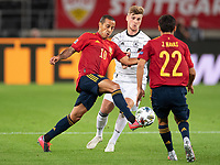 3rd September 2020; Stuttgart, Germany; UEFA Nations League football, Germany versus Spain; Alcantara THIAGO Spain challenged by Timo Werner of Germany