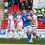 St Johnstone v Hamilton Accies…26.10.19   McDiarmid Park   SPFL<br />David Wotherspoon celebrates his goal<br />Picture by Graeme Hart.<br />Copyright Perthshire Picture Agency<br />Tel: 01738 623350  Mobile: 07990 594431