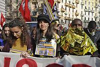 """- Milano, 16 Febbraio 2019, manifestazione contro la politica del governo di criminalizzazione degli immigrati, il """"decreto sicurezza"""" di Salvini ministro dell'interno e contro la trasformazione dei CPA, Centri di Prima Accoglienza in CPR, Centri per il Rimpatrio.<br /> <br /> - Milan, 16 February 2019, demonstration against the policy of the government of criminalization for immigrants, the """"safety decree"""" of Salvini, minister of the interior and against the transformation of the CPA, Centers of First Reception in CPR, Centers for Repatriation."""