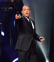 MIAMI, FL - DECEMBER 10: Singer Luis Miguel performs during a concert at American Airlines Arena on December 10, 2015 in Miami, Florida.<br /> <br /> <br /> People:  Luis Miguel<br /> <br /> T