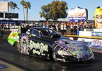 Feb. 17 2012; Chandler, AZ, USA; NHRA funny car driver Bob Bode during qualifying for the Arizona Nationals at Firebird International Raceway. Mandatory Credit: Mark J. Rebilas-
