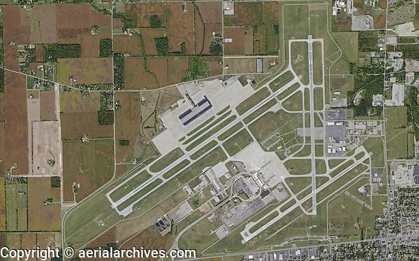 aerial map Dayton International Airport, Dayton, Ohio