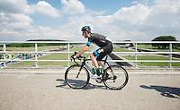 Wiggo over the bridge<br /> <br /> Eneco Tour 2013<br /> stage 3: Oosterhout - Brouwersdam (187km)