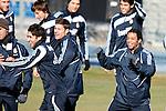 Madrid (24/02/10).-Entrenamiento del Real Madrid..Raul, Xabi Alonso y Marcelo...© Alex Cid-Fuentes/ ALFAQUI..Madrid (24/02/10).-Training session of Real Madrid c.f..Raul, Xabi Alonso and Marcelo...© Alex Cid-Fuentes/ ALFAQUI.