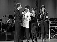 Montreal (Qc) CANADA - Nov 30, 1985 - Du Gramphone au Laser :<br /> Jean-Pierre Ferland,?,?, nanette Workman