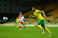 3rd November 2020; Carrow Road, Norwich, Norfolk, England, English Football League Championship Football, Norwich versus Millwall; Grant Hanley of Norwich City attempts to recover the through  ball