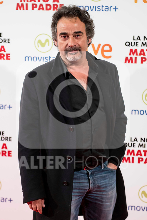 "Eduard Fernandez during the presentation of the spanish film ""La noche que mi Madre mato a mi Padre"" at Palacio de la Prensa in Madrid. April 27,2016. (ALTERPHOTOS/Borja B.Hojas)"