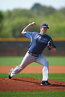 Tampa Bay Rays Spencer Moran (41) during a minor league Spring Training intrasquad game on April 1, 2016 at Charlotte Sports Park in Port Charlotte, Florida.  (Mike Janes/Four Seam Images)