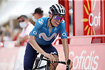 Enric Mas (ESP) Movistar Team crosses the finish line in 3rd place at the end of Stage 9 of La Vuelta d'Espana 2021, running 188km from Puerto Lumbreras to Alto de Velefique, Spain. 22nd August 2021.     <br /> Picture: Luis Angel Gomez/Photogomezsport   Cyclefile<br /> <br /> All photos usage must carry mandatory copyright credit (© Cyclefile   Luis Angel Gomez/Photogomezsport)