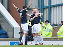 JOHN BAIRD CELEBRATES WITH BRIAN GRAHAM AFTER HE SCORES RAITH'S THIRD