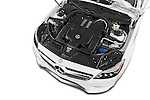Car Stock 2015 Mercedes Benz CLS-Class CLS400 2 Door Coupe Engine high angle detail view