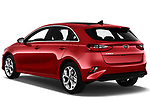 Car pictures of rear three quarter view of 2019 KIA Ceed More 5 Door Hatchback Angular Rear