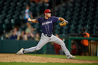 Binghamton Rumble Ponies relief pitcher Matt Blackham (6) during an Eastern League game against the Richmond Flying Squirrels on May 29, 2019 at The Diamond in Richmond, Virginia.  Binghamton defeated Richmond 9-5 in ten innings.  (Mike Janes/Four Seam Images)