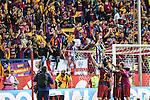 FC Barcelona's Sergio Busquets, Andres Iniesta, Jordi Alba and Ivan Rakitic  during Spanish Kings Cup Final match. May 22,2016. (ALTERPHOTOS/Rodrigo Jimenez)