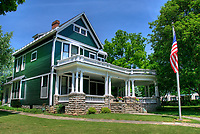 Home of US President Warren G. Harding, 29th President of the United States, from 1891 to 1921, Marion, Ohio, USA