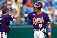 Clemson's Richie Shaffer in Game 4 of the NCAA Division One Men's College World Series on Monday June 21st, 2010 at Johnny Rosenblatt Stadium in Omaha, Nebraska.  (Photo by Andrew Woolley / Four Seam Images)