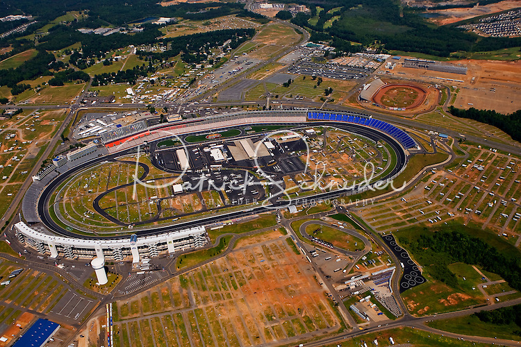 Aerial photo of the Lowes Motorspeedway in Concord, NC, taken May 2008.