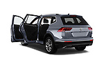 Car images close up view of a 2018 Volkswagen Tiguan Allspace Highline 5 Door SUV doors