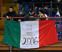 Italian Supporters, during the friendly match Italy against USA at the Stadium Luigi Ferraris at Genova Italy on february the 29th, 2012.