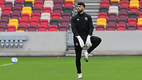 Brentford goalkeeper, David Raya warms up ahead of kick-off during Brentford vs Preston North End, Sky Bet EFL Championship Football at the Brentford Community Stadium on 4th October 2020