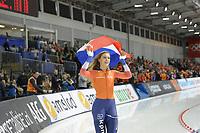 SPEEDSKATING: 15-02-2020, Utah Olympic Oval, ISU World Single Distances Speed Skating Championship, 1000m Ladies, Jutta Leerdam, World Champion, Nederlands record, 1:11,847, ©photo Martin de Jong