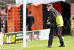 Dundee United v St Johnstone…..01.08.20   Tannadice  SPFL<br />Dundee United groundstaff disinfecting the goals at half time<br />Picture by Graeme Hart.<br />Copyright Perthshire Picture Agency<br />Tel: 01738 623350  Mobile: 07990 594431