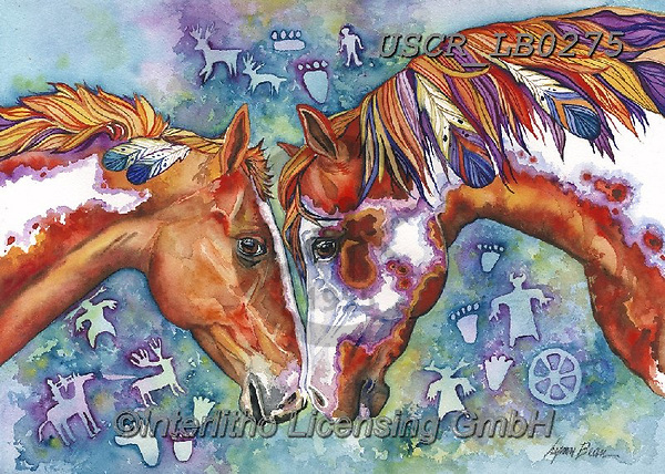 ,REALISTIC ANIMALS, REALISTISCHE TIERE, ANIMALES REALISTICOS, paintings+++++,USCRLB0275,#a#, EVERYDAY,horse,horses,mustangs ,innovative