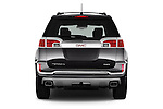Straight rear view of 2017 GMC Terrain FWD-Denali 5 Door SUV Rear View  stock images