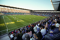 SAN JOSE, CA - JUNE 26: Fans watch the San Jose Earthquakes battle the LA Galaxy during a game between Los Angeles Galaxy and San Jose Earthquakes at PayPal Park on June 26, 2021 in San Jose, California.
