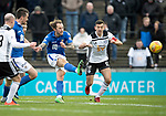 Ayr United v St Johnstone…..08.02.20   Somerset Park   Scottish Cup 5th Round<br />Stevie May shoots wide<br />Picture by Graeme Hart.<br />Copyright Perthshire Picture Agency<br />Tel: 01738 623350  Mobile: 07990 594431