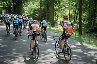'the mule': Sjoerd van Ginneken (NED/Roompot-Nederlandse Loterij) bringing bidons back from the teamcar to his teammates <br /> <br /> Ster ZLM Tour (2.1)<br /> Stage 2: Tholen > Hoogerheide (186.8km)