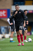 Lewis Page of Exeter City warming up during Southend United vs Exeter City, Sky Bet EFL League 2 Football at Roots Hall on 10th October 2020