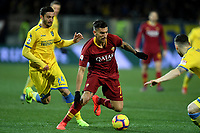 Francesco Cassata of Frosinone and Lorenzo Pellegrini of AS Roma compete for the ball during the Serie A 2018/2019 football match between Frosinone and AS Roma at stadio Benito Stirpe, Frosinone, February 23, 2018 <br />  Foto Andrea Staccioli / Insidefoto