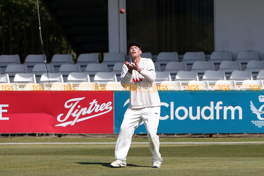 Tom Westley of Essex takes a catch to dismiss Jack Burnham from the bowling of Simon Harmer during Essex CCC vs Durham CCC, LV Insurance County Championship Group 1 Cricket at The Cloudfm County Ground on 18th April 2021