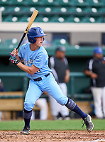 St. John's Country Day Spartans Connor Moore (4) during the 42nd Annual FACA All-Star Baseball Classic on June 6, 2021 at Joker Marchant Stadium in Lakeland, Florida.  (Mike Janes/Four Seam Images)