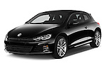 2015 Volkswagen SCIROCCO R 3 Door Hatchback 2WD Angular Front stock photos of front three quarter view